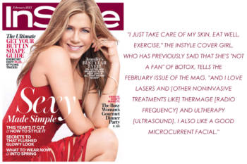 Jennifer Aniston adora Thermage y Ultherapy