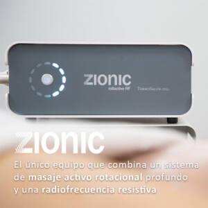 Zionic El primer equipo que combina un sistema de masaje activo rotacional profundo y una radiofrecuencia resistiva.